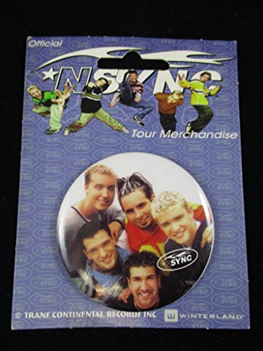 Nsync Official Tour Merchandise Button Pin Winterland NOS (Var3)