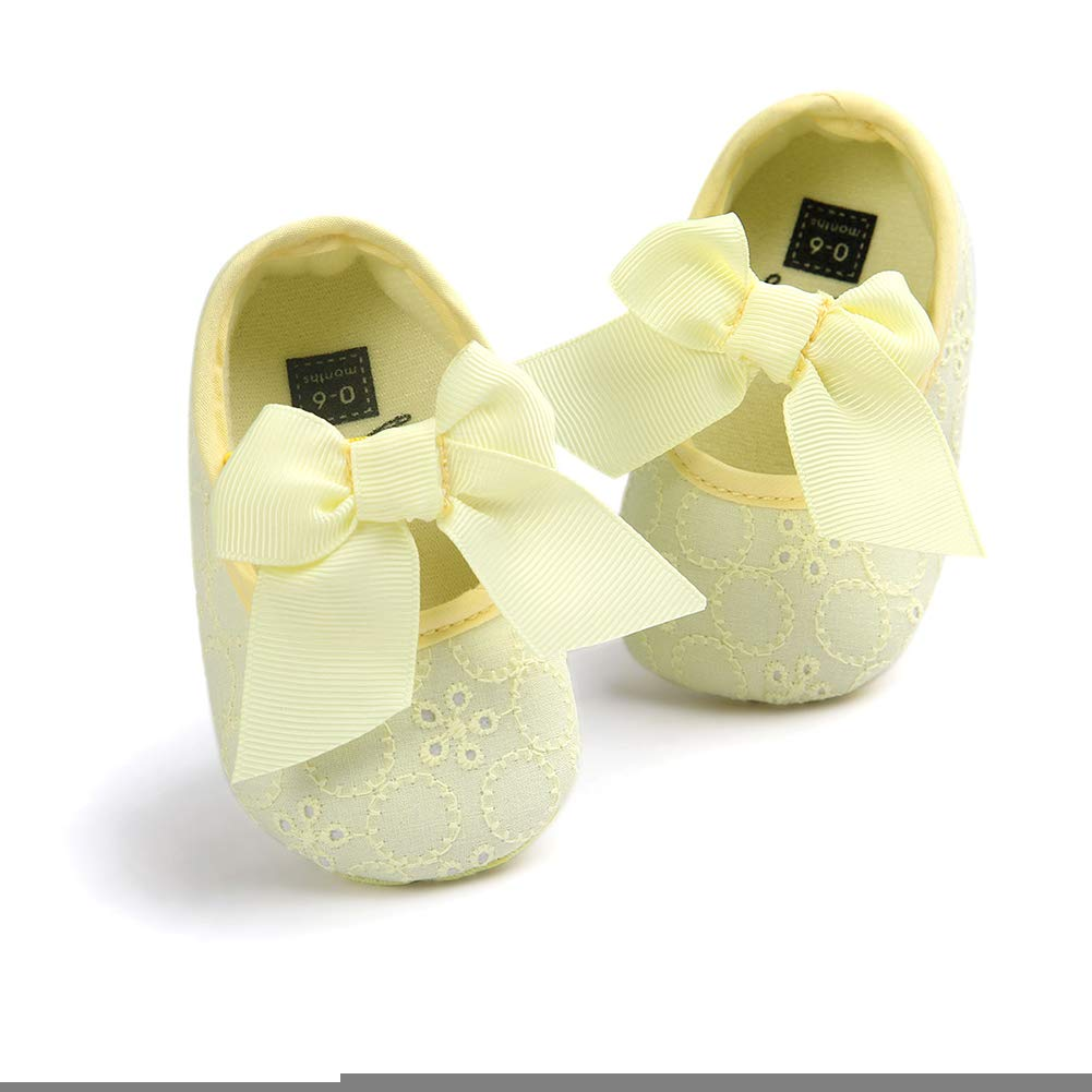 Infant Baby Girls Lovely Bowknot Soft Sole Prewalker Toddler Princess Shoes Butterfly Iron Baby Shoes