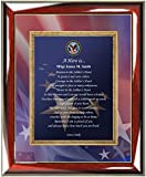 Military Plaque Retirement Service Award Personalized Poem Custom Wall Frame Marine Corps Soldier US Navy Air Force USAF USMC USAF USCG Coast Guard Military Homecoming Going Away