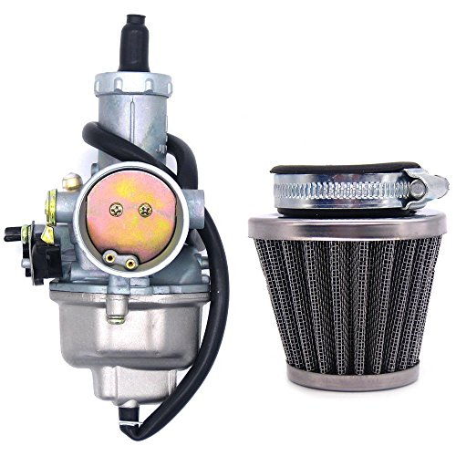 PZ30 30mm Carburetor with Cable Choke Lever and Air Filter for 150 200 250 300 cc Pit Dirt Bike ATV Scooter Moped Engines ()