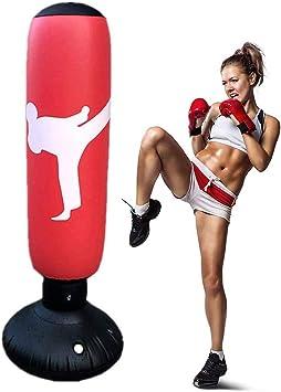 Saco de boxeo con pie para niños adultos, saco de boxeo hinchable para karate, fitness, MMA, 160 cm