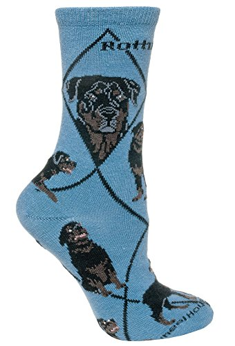 Rottweiler Dog Adult Cotton Puppy Dog Socks by WHD, Size 9-11 ()
