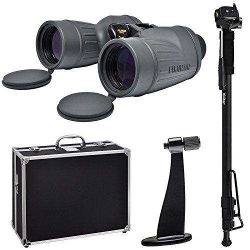 Fujifilm Fujinon Polaris 7x50 FMTR-SX Waterproof/Fogproof Binoculars with Hard Case + Monopod + Tripod Adapter