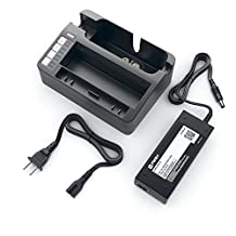 Pwr+ External Battery Charger for Irobot Roomba 880 400 500 600 700 Series 4000 6000 510 530 532 540 550 560 570 581 595 630 650 660 760 770 780 R3 80501, Dirt Dog, Discover; Irobot Scooba 5900 Robotic Vacuum Cleaner Cradle Power Charging Station