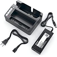 Pwr+ External Battery Charger for Irobot Scooba 330 340 350 380 385 590 5800 5806 5900 5910 5920 5930 5940 5950 5999 6000 6050 34001 Robotic Vacuum Cleaner Cradle Power Charging Station