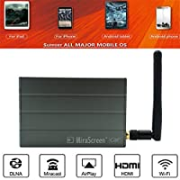Sundlight Car Miracast, MiraScreen C1 Car WiFi Display Dongle WiFi Mirror Box with HDMI Airplay Miracast DLNA GPS Navigation Car for iOS Android Phone TV