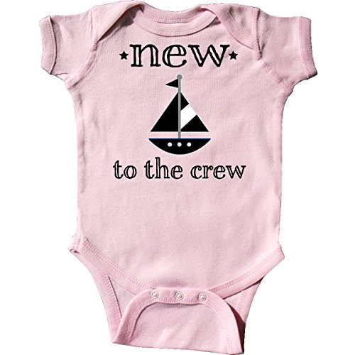 inktastic New to The Crew Newborn Infant Creeper 6 Months Pink 2dd4a