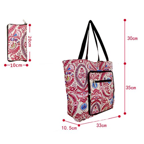 Travel Recycle Creative Bag Waterproof Pocket Foldable Side Millya Bag Large Shopping Purple with dqx6Ynw40