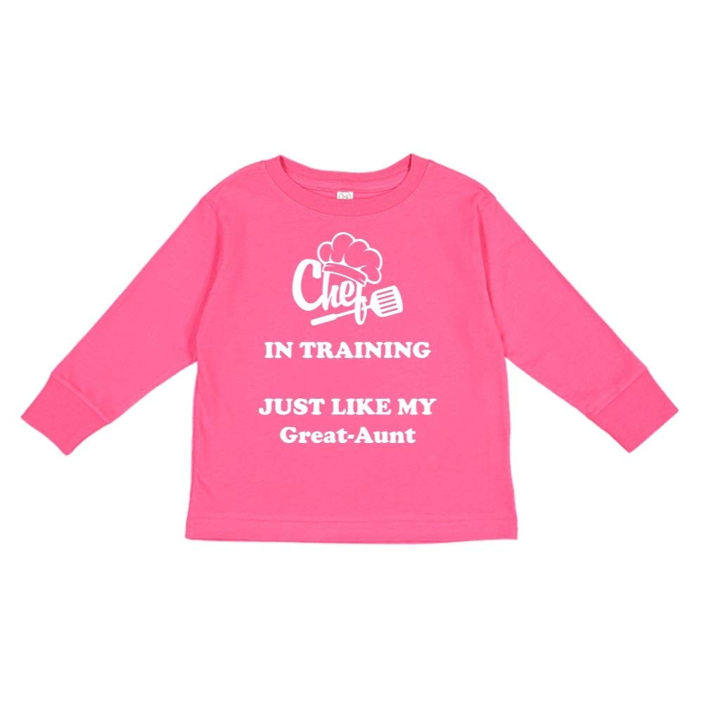 Chef in Training Just Like My Great-Aunt Toddler//Kids Long Sleeve T-Shirt