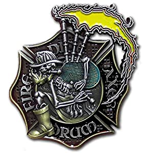 Vision Strike Coins Pipes and Drums Firefighter Coin by Vision Strike Coins