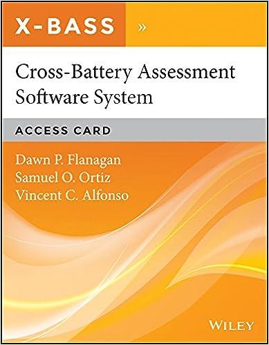 Amazon.com: Cross-Battery Assessment Software System (X-BASS ...