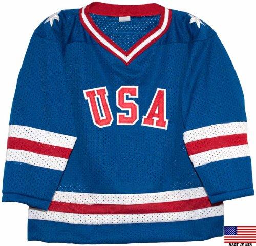1980 USA Olympic Miracle on Ice Hockey Jersey (Child Sizes) (blue, 6/7) ()