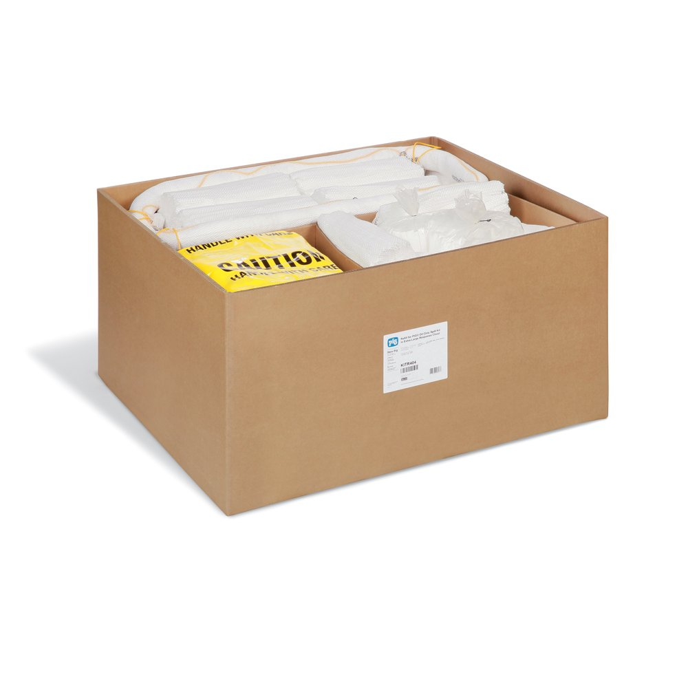 New Pig KITR404 215 Piece Oil-Only Spill Kit Refill in Extra-Large Response Chest, 127 Gallon Absorbency