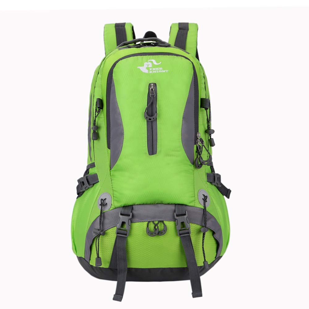 BIUBIU ハイキングバックパック 40L防水 アウトドア 軽量 旅行用バックパック 大容量 ハイキングバッグ ナイロンバックパック 登山用バッグ B07HVXL3TZ グリーン