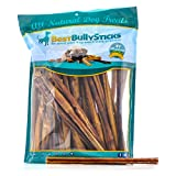 12-inch Supreme Bully Sticks by Best Bully Sticks (25 Pack) All Natural Dog Treats