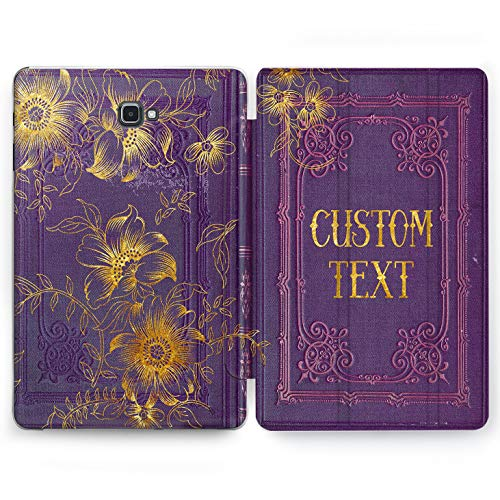 Wonder Wild Purple Book Samsung Galaxy Tab S4 S2 S3 A E Smart Stand Case 2015 2016 2017 2018 Tablet Cover 8 9.6 9.7 10 10.1 10.5 Inch Clear Old Ancient Vintage Custom Personalized Monogram Your Name]()