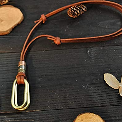 Inveroo Leather Men Necklaces Pendants Punk Vintage Adjustable Brown Rope Chain Male Jewelry Mens Jewellery