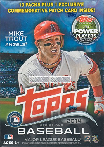 2014 Topps MLB Baseball Series #1 Unopened Blaster Box with 10 Packs of 8 Cards Plus One Exclusive Commemorative Patch Card - Baseball Cards 2014 Box