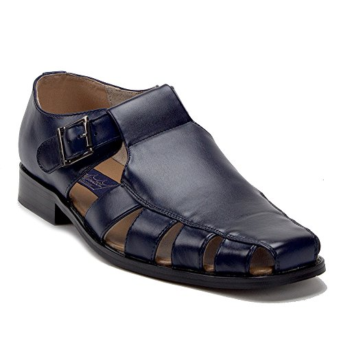 Jaime Aldo Mens 44390 Vented Closed Toe Dress Fisherman Sandals Shoes