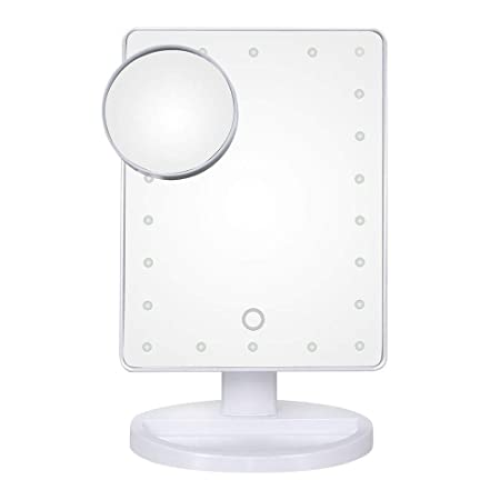 L.W.SURL Lámpara de Mesa LED Inteligente Espejo de Maquillaje ...