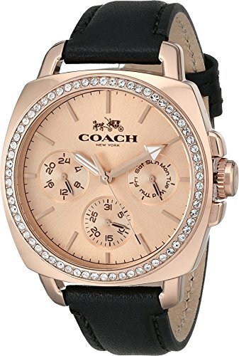 Coach Women's Boyfriend 40MM Leather Strap Watch Rose Gol...