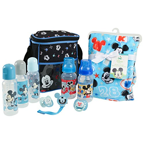 Infant Disney Pacifier (Disney Baby Mickey Mouse Essentials Bundle, Blue)