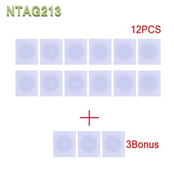 NFC NTag213 tag RFID PVC stickers 13 56mhz for Samsung TagMo LG HTC android  nokia windows Sony all NFC-enabled smartphones and devices (15PCS)