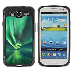 Suave TPU GEL Carcasa Funda Silicona Blando Estuche Caso de protección (para) Samsung Galaxy S3 III I9300 / CECELL Phone case / / Aurora Borealis Water Reflection Green /