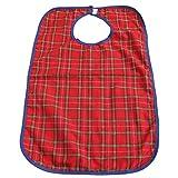 FreshGadgetz Pack of 1 Waterproof Adult Bib Elderly Disabled, Adult Waterproof Clothes Bib-Red