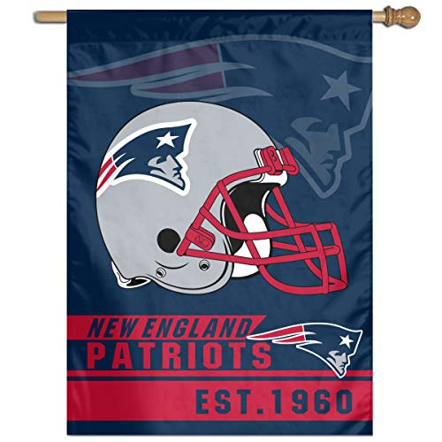 Marrytiny American Football Team New England Patriots Home Garden Flags 27x37 Inch 100% Polyester Home House Wall Decoration Flag