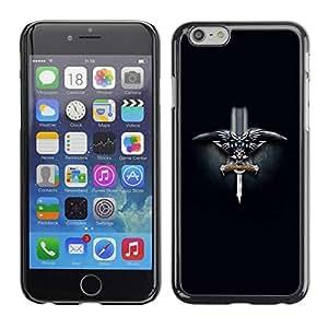 Paccase / SLIM PC / Aliminium Casa Carcasa Funda Case Cover para - Norwegian Viking Sword - Apple Iphone 6