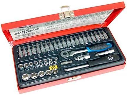 39 Pieces C.K 4655 Sure Drive Socket Set 1//4-inch Drive