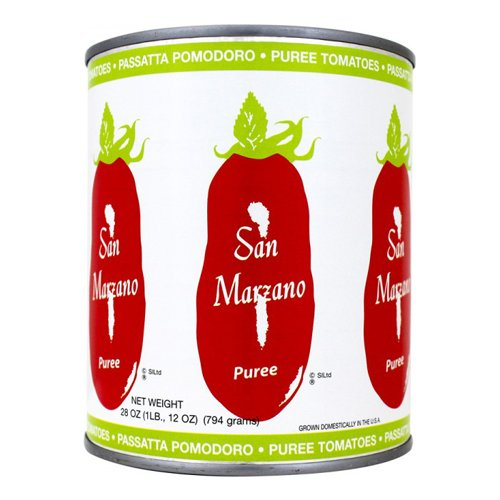 San Marzano Puree Tomatoes, 28 Ounce (Pack of 6) (San Tomato Paste Marzano)