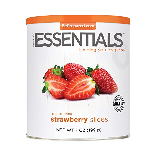 Emergency Essentials Freeze Dried Sliced Strawberries 7 Oz Can