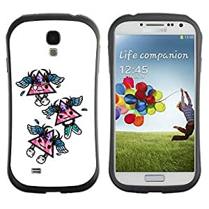 Hybrid Anti-Shock Bumper Case for Samsung Galaxy S4 / Cool Triangles