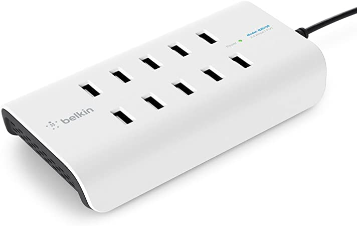 Belkin Rockstar 10 Port Usb Charger White Computers Accessories