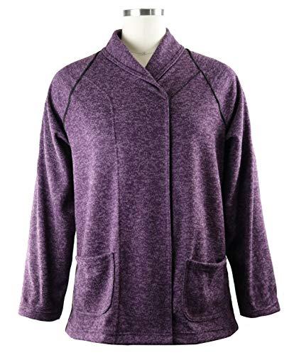 Cozy Soft Wrap Sweater for Seniors Adaptive Clothing, Clothing for Elderly ... (Medium, Plum)