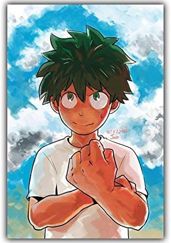 Njuxcnhg Japanische Anime Leinwand Malerei abstrakte Kunst wandtuch Art Deco Poster Ber/ühmte Leinwand Halloween Kein Rahmen 80x120cm