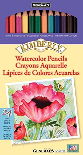 General Pencil 700-24A Kimberly Watercolor Pencils, 24 Per Package by General Pencil