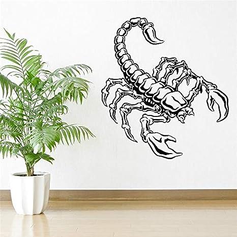 Personalizado Color Escorpión Vinilo Etiqueta de Arte de Pared ...
