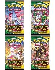 Pokemon Kaarten Sword & Shield - 4x Evolving Skies Pokemon Booster Packs - Pokemon Ruilkaarten - Engelse Kaarten