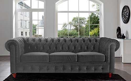 Divano Roma Furniture Velvet Chesterfield