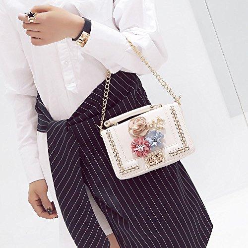 Ricamo Borsa ✿✿yesmile Shopper Crossbody Donne Donna bianco A Similpelle In Spalla Rose Borse Tracolla bianco Elegante Da Pelle 0qOtx4E0