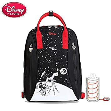 Disney Diaper Bags USB heated waterproof maternity bag feeding storage