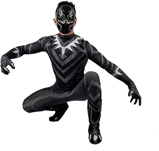 ERTSDFXA The Avengers 4 Black Panther Disfraces Adulto Nino ...