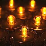 Waterproof Wedding Underwater Battery Sub LED Lights Set of 12 Orange