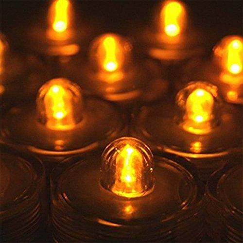 Waterproof Wedding Underwater Battery Sub LED Lights Set of 12 Orange -