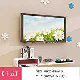 HOMEE Set-Top Box Wall Shelves Tv Wall Decoration Router Creative Lattice Wall Hanging Living Room Shelf Wall Decoration (Multiple Styles Available),15