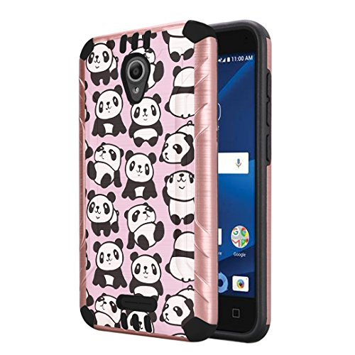 Capsule Case Compatible with Alcatel IdealXcite, Alcatel Verso, Alcatel CameoX, Alcatel Raven LTE, [Dual Layer Slim Defender Armor Combat Case Rose Gold] - (Pink - Cell Storm Phone Models