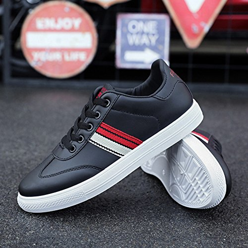 up Color Lace Mens Loafers Shoes Deck Black Flat Running Comfort Running HUAN Shoes Shoes Casual 42 Sneakers Breathable Size qIXxdHZ